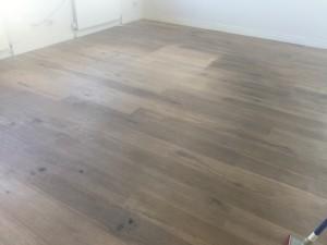 dirty oiled floor